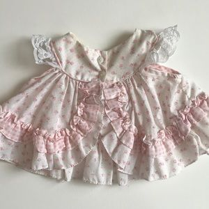 icz Dresses - Baby dress pink and cream floral 3-6 months